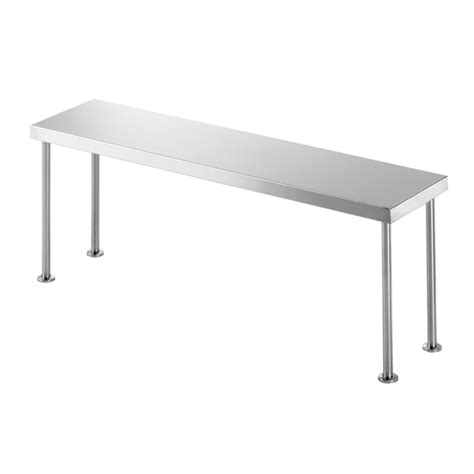 One Shelf by Single Overhead Shelf Ss12 Ss13 Nomad Stainless Steel