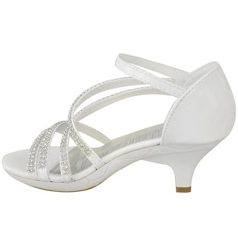 Heel Sandals For Wedding by New Womens Low Heel Bridal Wedding Sandal