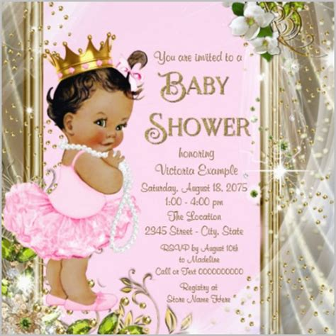 Princess Baby Shower Invitation Templates Free baby shower invitation template 22 free psd vector eps