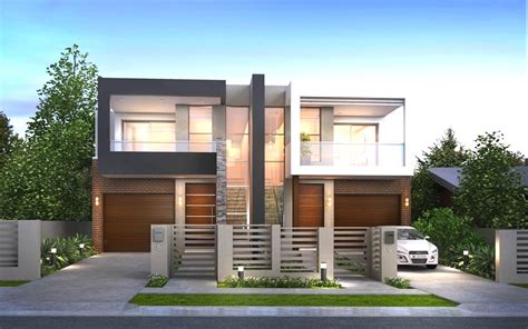 modern duplex house plans maybehip