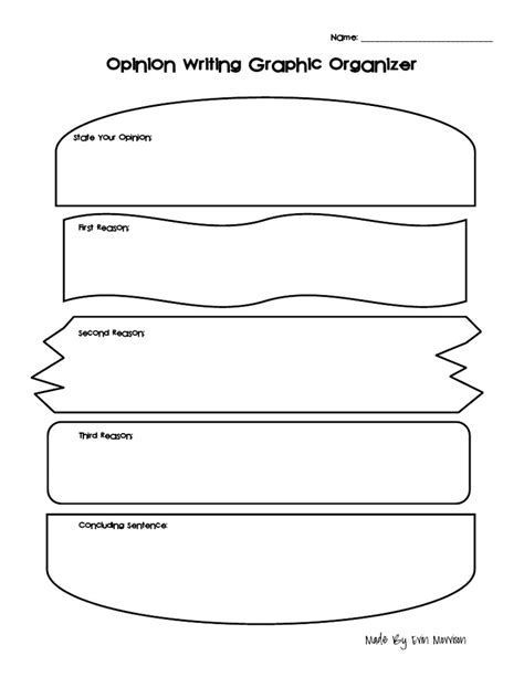 How To Make A Graphic Organizer On Paper - opinion writing graphic organizer sandwich pdf writing