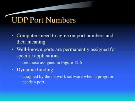 udp port ppt udp user datagram protocol powerpoint presentation