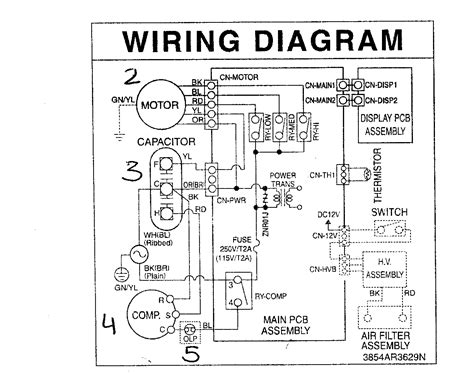 central air conditioner wiring diagram and york to