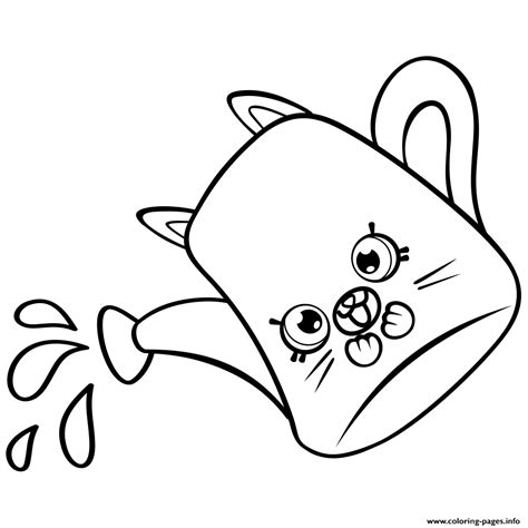 coloring page water can cartoon watering can petkins shopkins coloring pages printable