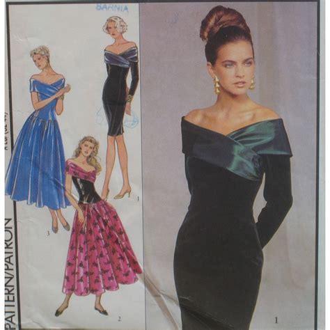 Dress Pattern Off The Shoulder   off the shoulder dress pattern evening prom bride by