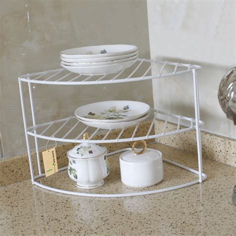 Corner Plate Shelf by Finether 3 Tier Corner Plate Shelf Rack Multi Function