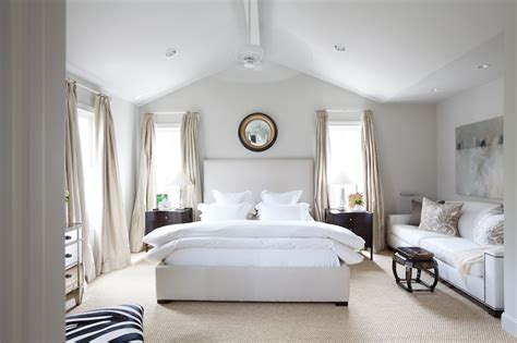vaulted ceiling bedroom transitional bedroom
