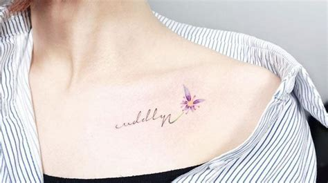 cute collar bone tattoos collarbone tattoos to go with shoulder baring