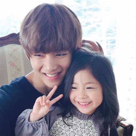 bts v siblings picture twitter v with kids model lee nam gyeong 150814