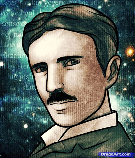 how to draw nikola tesla nikola tesla step by step
