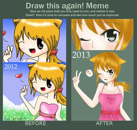 Meme And Neko - draw this again meme neko chan by kyupods on deviantart