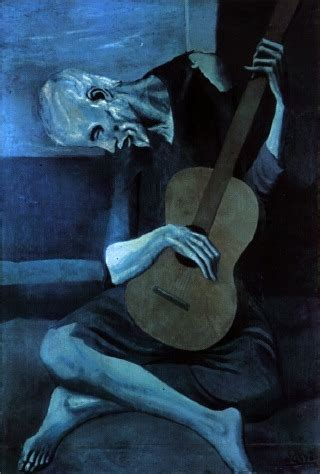 The Blind Guitarist pablo picasso redtree times