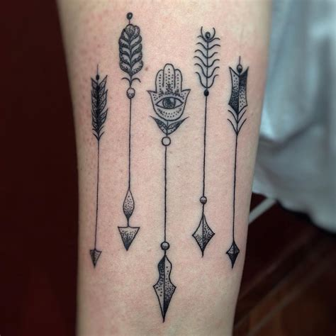 arrow tribal tattoo five tribal arrows with third eye truetattoos