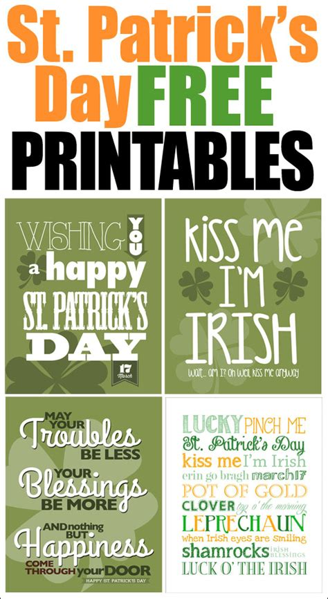 st patrick s day free printables how to nest for less
