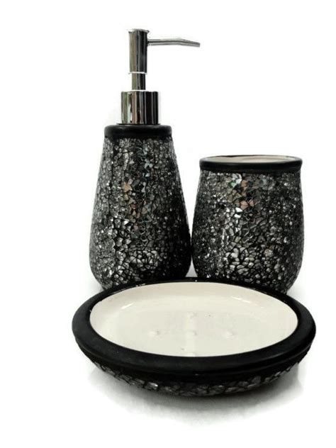 Black Glitter Bathroom Accessories Black Sparkle Bathroom Accessories House Decor Ideas