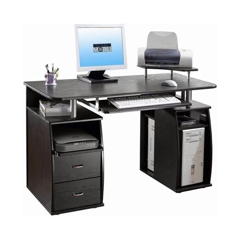 Computer Desk Workstation Techni Mobili Atua Wood Computer Desk In Espresso Rta 8211 Es18