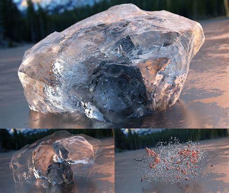 realistic light shading and texture for blender inside create realistic ice and awesome refraction in blender