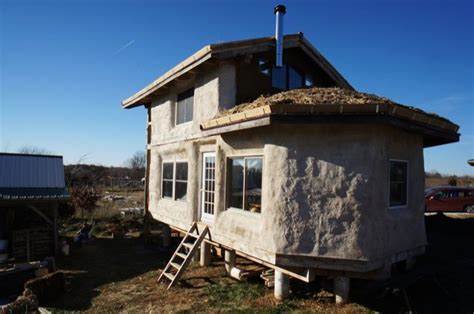 Timber Frame Straw Bale Tiny House For Sale 500 Square Tiny Homes