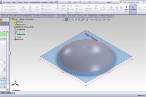 solidworks tutorial indent tutorial indent feature in solidworks grabcad