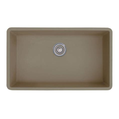Granite Undermount Kitchen Sinks Shop Blanco Precis 18 75 In X 32 In Truffle 1 Granite Undermount Customizable Residential