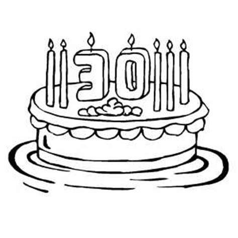 coloring happy birthday cakes candles pages 30th birthday cake with 7 candles coloring page