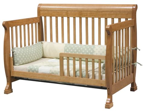 Convertable Baby Cribs Davinci Kalani 4 In 1 Convertible Baby Crib In Oak W Toddler Rails M5501o