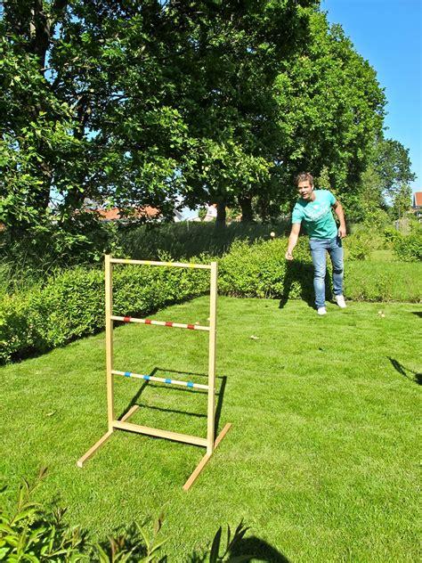garten spiele large ladder outdoor garden ring toss garden