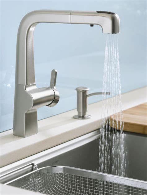 kohler evoke kitchen faucet kohler contemporary faucets home design and decor reviews