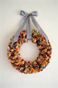 Christmas Craft Gift Ideas For Adults - fall fabric scrap wreath
