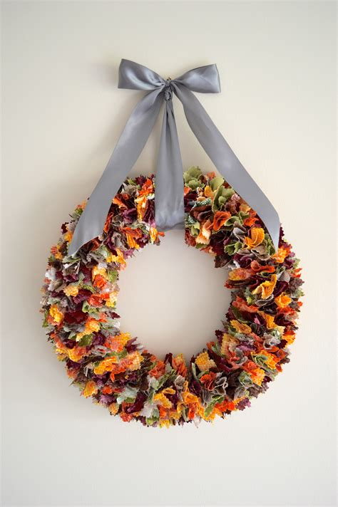 fabric crafts fall fall fabric scrap wreath