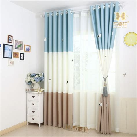 2016 cartoon owl printed kids curtain for baby room baby kids room curtains korean stlye cartoon curtain for