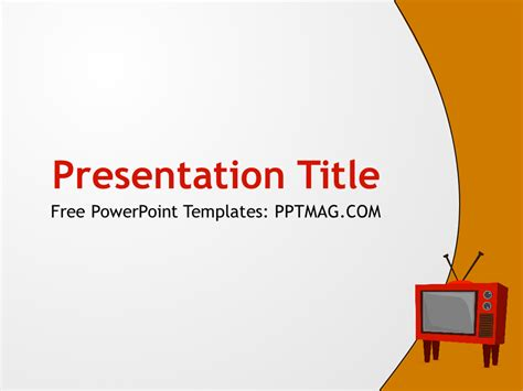free tv powerpoint template pptmag