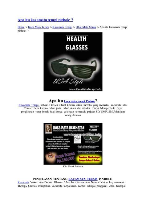 apa itu kacamata terapi pinhole