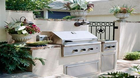 Outdoor kitchen plans, very small outdoor kitchen small