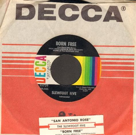 San Antonio Records Free Born Free San Antonio With Decca Company Sleeve And Juke Box Label