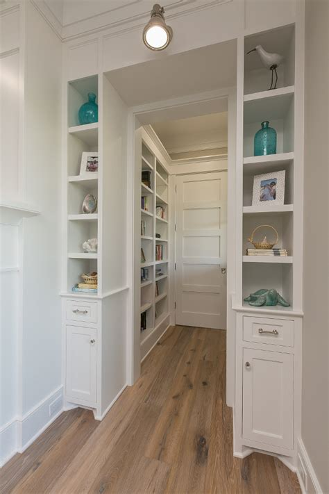 built in white bookcases new house with coastal interiors home bunch