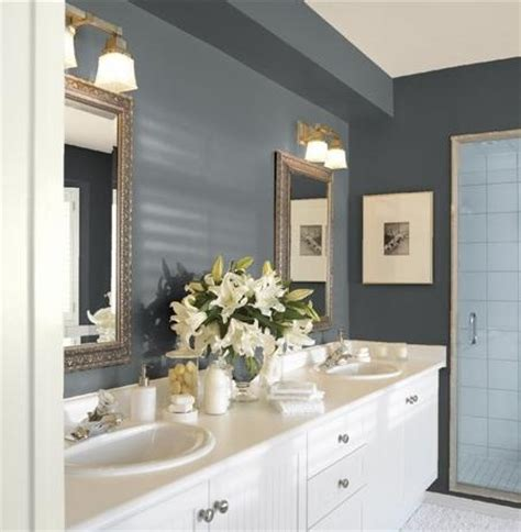 Bathroom Colors With Trim Guest Bathroom Paint Colors Gunmetal Walls Cloud White
