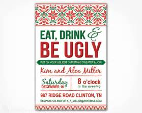 Ugly Sweater Christmas Party Invitations Template - ugly sweater invitation printable diy by charmingprintables