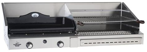 Fireplace Brands - duo 600 inox gas plancha and barbecue the barbecue store spain