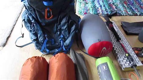 backpacking 01 gear list semi ultralight