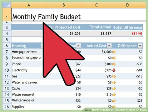 how to make a home budget plan how to make a personal budget on excel with pictures