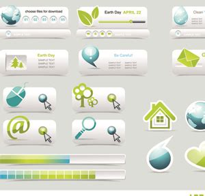 design menu buttons creative buttons and web menus elements vector 02 vector