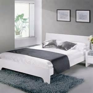 White High Bed Frame Limelight Phobos Bed Frame White High Gloss