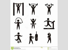 Fitness vector stock vector. Image of action, isolated ... Exercise Clip Art Free To Copy