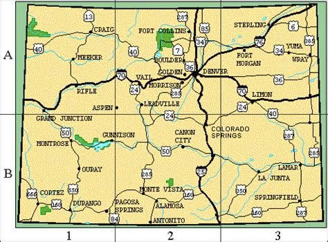 colorado map with cities map of colorado cities colorado vacation