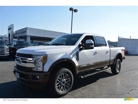 white platinum ford  super duty king ranch crew