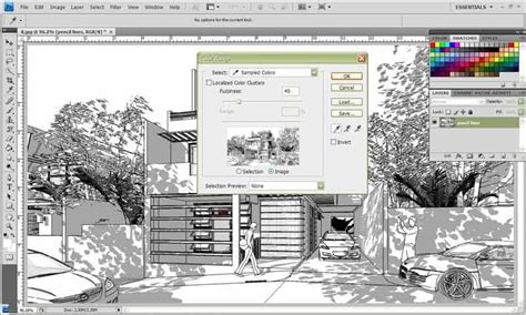 sketchup layout and style builder watercolor style sketchup fotosketcher and photoshop