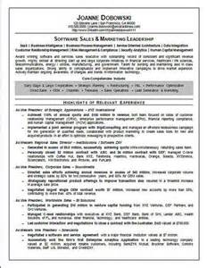 Sle Executive Resume by Software Sales Executive Resume Exle Executive Resume Resume Exles And Resume