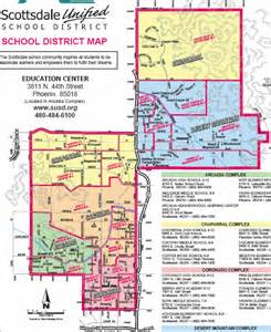 arizona school district map scottsdale school district boundary maps