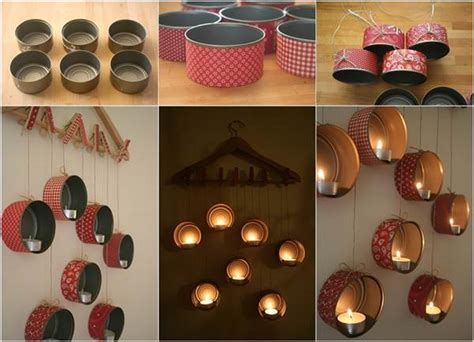 dwell beautiful shows you how to reuse candle jars and wax how to diy hanging tin can candle holder